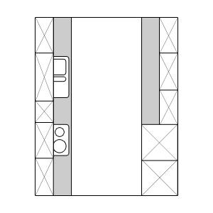 zweizeilige k chen f r gro e r ume ratgeber. Black Bedroom Furniture Sets. Home Design Ideas