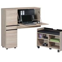 Modernes Büro im Schrank für einen Laptop-Arbeitsplatz
