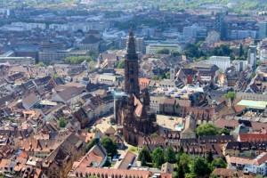 Stadtansicht von Freiburg - In Freiburg wohnen und leben