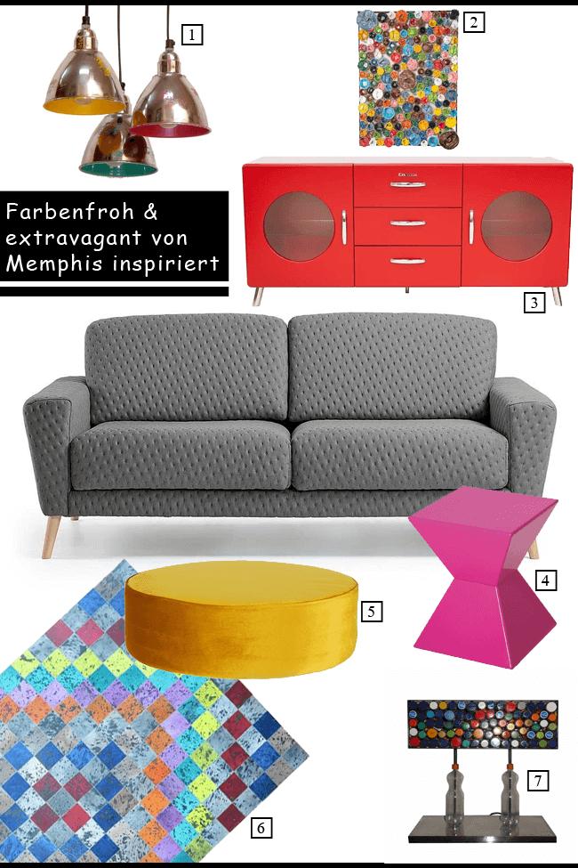 Von Memphis inspiriert: Extravagante Designs und satte Farben geben den Ton an.