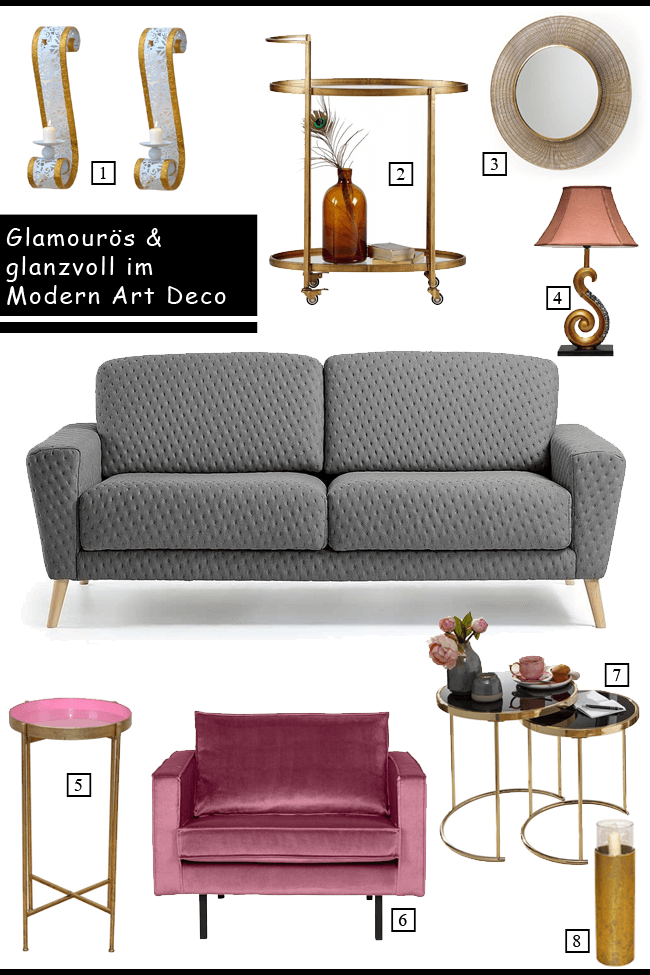 Glanz, Glamour und Gloria: Modern Art Deco für ein außergewöhnliches Zuhause mit allen Extravaganzen.