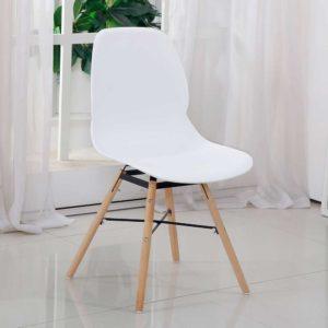 Moderner Schalenstuhl in Weiß - Suprise