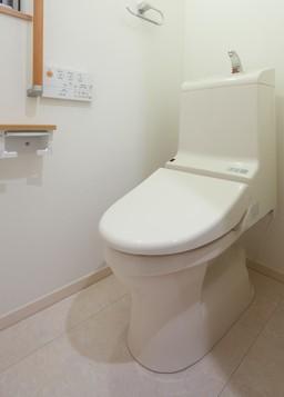Die Bedienung erfolgt bequem über das Bedienpanel an der Wand bei diesem Dusch-WC / Washlet.